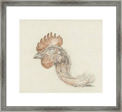 Head Of A Dead Chicken, Jean Bernard Framed Print