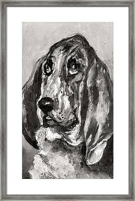 Head Of A Dog Running, 1880 Framed Print