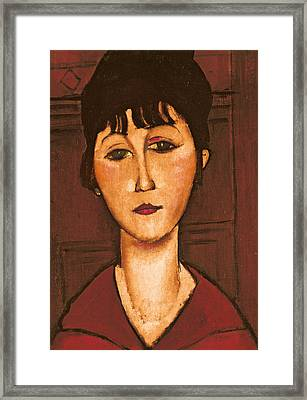 Head Of A Girl Framed Print by Amedeo Modigliani