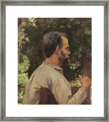 Head Of A Man Framed Print by Henri de Toulouse-Lautrec