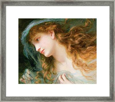Head Of A Nymph  Framed Print