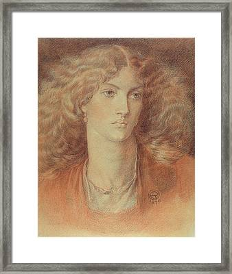 Head Of A Woman Called Ruth Herbert Framed Print by Dante Charles Gabriel Rossetti
