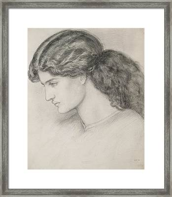 Head Of A Woman Framed Print by Dante Gabriel Charles Rossetti
