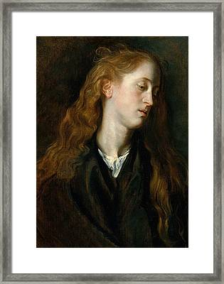 Head Of A Young Woman Framed Print