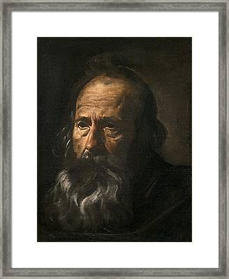 Head Of An Apostle Framed Print