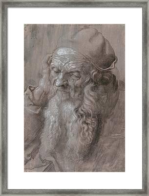Head Of An Old Man Framed Print by Albrecht Durer