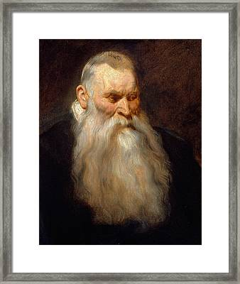 Head Of An Old Man With A White Beard Framed Print