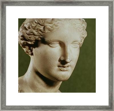 Head Of Artemis Marble Framed Print