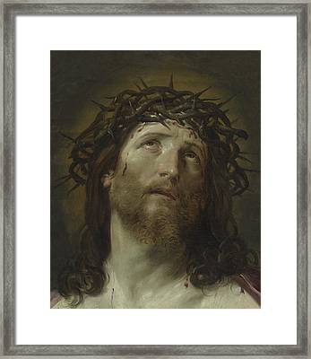 Head Of Christ Crowned With Thorns Framed Print