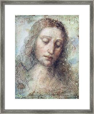 Head Of Christ Restoration Art Work Framed Print by Karon Melillo DeVega