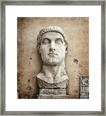 Head Of Constantine Framed Print by Joan Carroll
