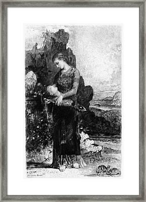 Head Of Orpheus Framed Print by Granger