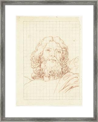 Head Of Resurrecting Christ, Bernard Picart Framed Print by Quint Lox