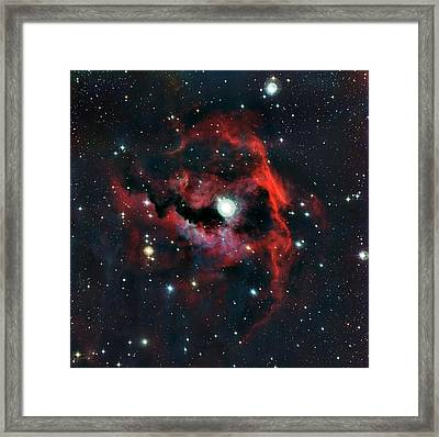 Head Of Seagull Nebula Framed Print by European Southern Observatory