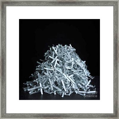 Head Of Shredded Paper Framed Print by Bernard Jaubert