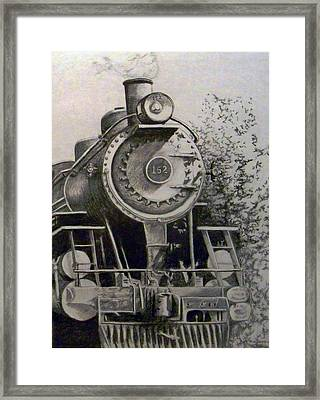 Head Of Steam Framed Print by Rick Moore