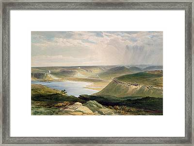 Head Of The Harbor At Sebastopol Framed Print by William 'Crimea' Simpson