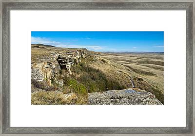 Head Smashed In Buffalo Jump Framed Print