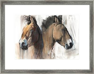 Head Study Framed Print by Mark Adlington