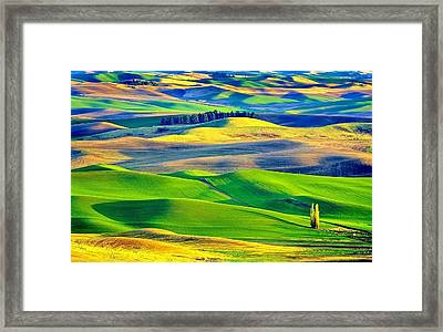 Head To The Hills Framed Print