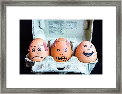 Headache Eggs. Framed Print
