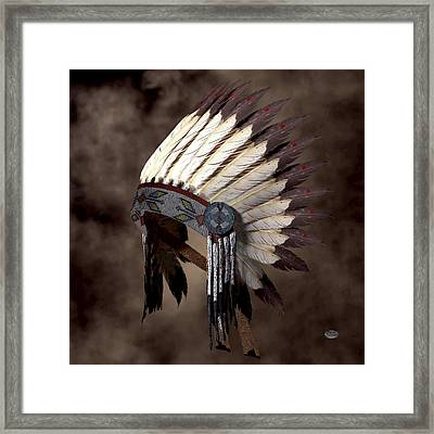 Headdress Framed Print by Daniel Eskridge
