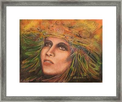 Headdress Framed Print by Debra Lynn Birchell
