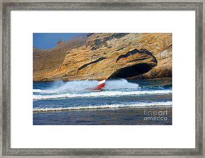 Headed For The Beach Framed Print by Mike  Dawson