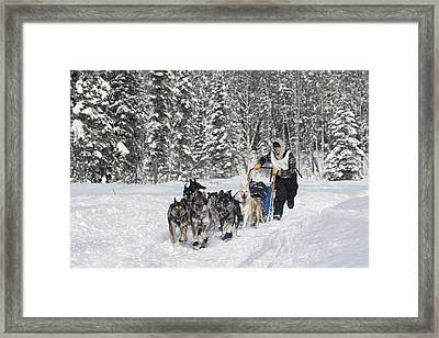 Headed Towards A First Place Finish Framed Print by Jeff Schultz
