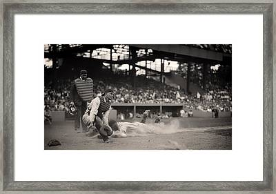 Headfirst Slide By Lou Gehrig Framed Print by Mountain Dreams