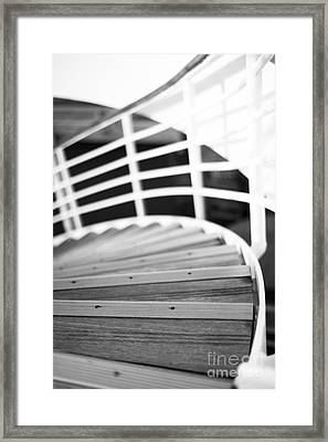 Heading Down In Monochrome Framed Print by Anne Gilbert