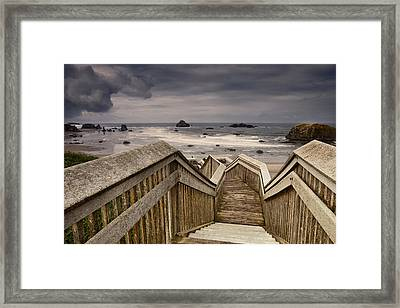 Heading Down To The Beach Framed Print