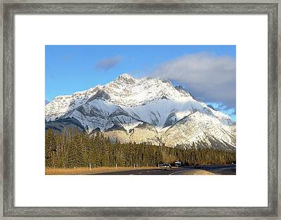 Heading For Banff Framed Print by George Cousins