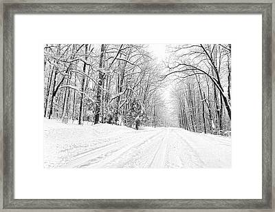Heading For Davis West Virginia After Snow Storm Framed Print by Dan Friend