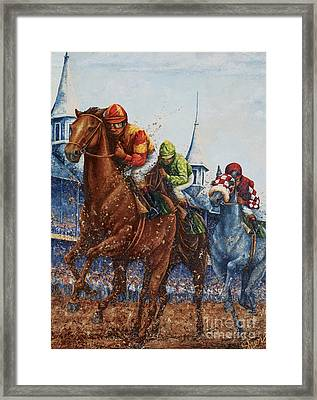 Heading For Home - The Race Framed Print
