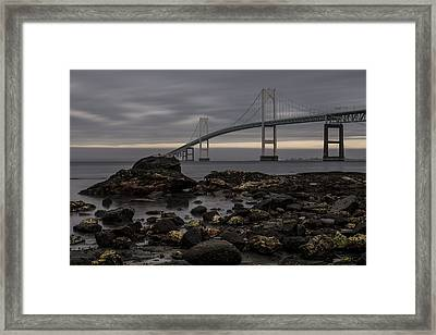 Heading For Newport Framed Print by Andrew Pacheco