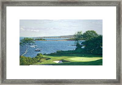 Heading For The 19th Hole -woods Hole Golf Club Framed Print