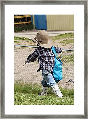 Framed Print featuring the photograph Heading For The Chute by Ann E Robson