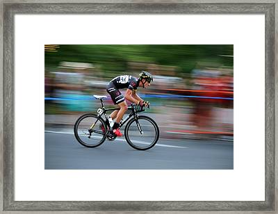 Heading For The Finish Line Framed Print