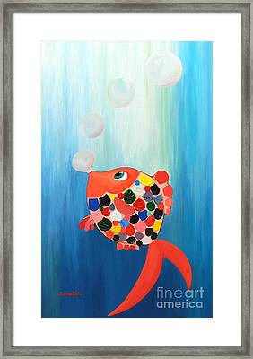 Heading For The Light Framed Print by Denisa Laura Doltu