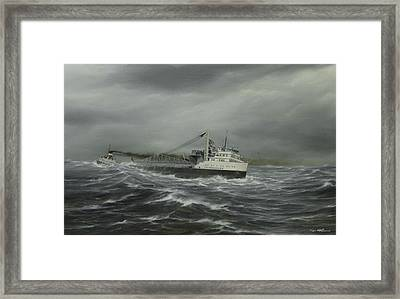 Heading For The Point Framed Print by Captain Bud Robinson