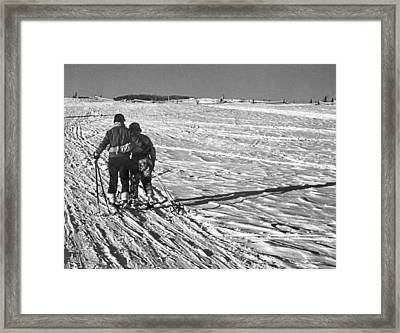Heading Home After Skiing Framed Print