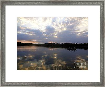 Heading Home On Lake Roosevelt In Outing Minnesota Framed Print