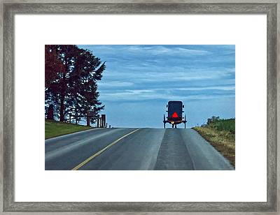 Heading Home Framed Print by Priscilla Burgers