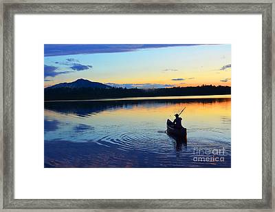 Heading Out At Sunset Framed Print by Christine Dekkers