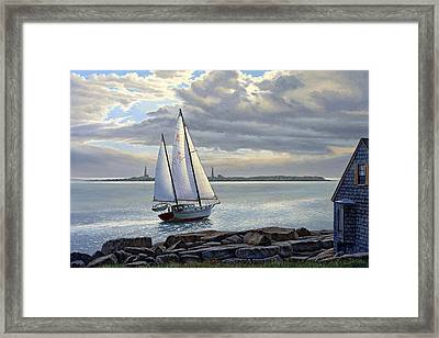 Heading Out-close Hauled     Framed Print by Paul Krapf