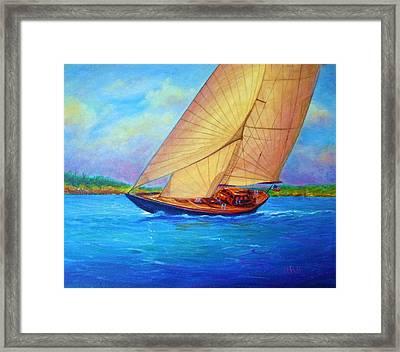 Heading Out Keehi Lagoon Framed Print by Joseph   Ruff
