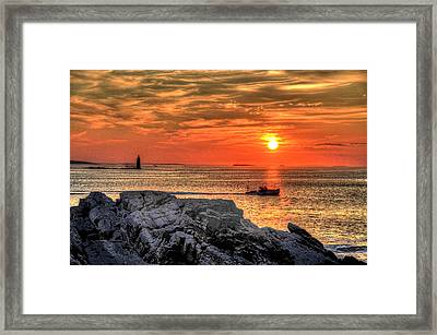 Heading Out Framed Print