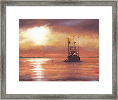 Heading Out Framed Print by Sharon Morley  APS