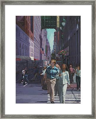 Heading Penn Station Framed Print by Gary Kim